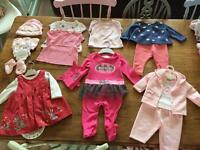 Bundle of baby Girls clothes/accessories - age; 3-6months
