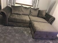 3 pieces soft velvet suite in dark grey brand new but wasn't the right style forMy house