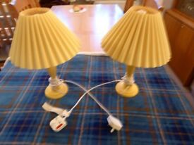 Pair of Bedside lamps.