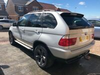 BMW X5 3.0, full leather, sat nav, TV, low mileage.