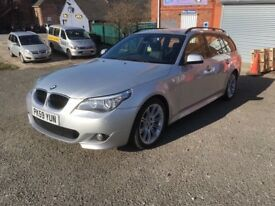 BMW 520d Touring M Sport manual silver black leather