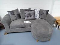 Brand New Fabric Sofa With Movable Chaise That Can Be Moved From Left To Right Hand Side