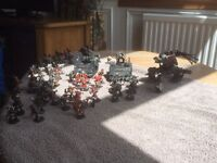 WARHANMER Chaos Space Marine Army, tanks, bikes obliterator and numerous figures