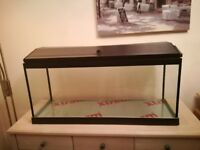 AQUARIUM FISH TANK WITH SET UP ACCESSORIES