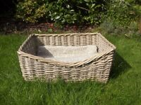 cat or small dog bed grey wicker bed