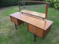 1960s A Younger Ltd Teak dressing Table with mirror