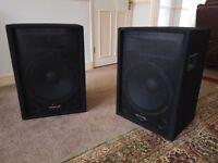 "Phonic SEM 715 - 15"" 2-Way PA Speaker x 2"