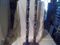 """TWO CLARINETS ,one """" BOOSEY & Co """" the other """" MAHILLON """" BOTH """" ALBERT """" SYSTEM FINGERING"""