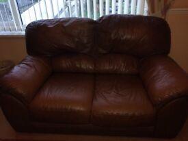 Tan 2+3 leather suite