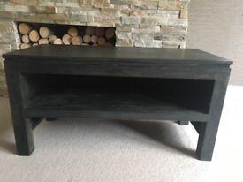 Solid Wood Black TV Unit/Coffee Table