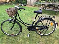Ladies Dutch Shopping Bike With Wicker Basket