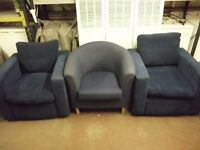 RETRO EASY CHAIRS IN BLUE
