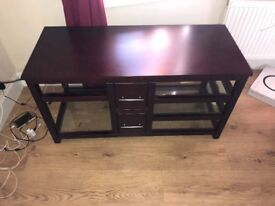 Dark TV unit/coffee table