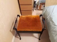 Antique Piano Stool - good condition with storage area.