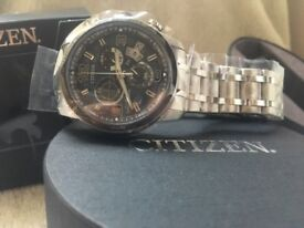 Brand new Citizen Eco-Drive Radio Controlled World Time Chronograph Perpetual