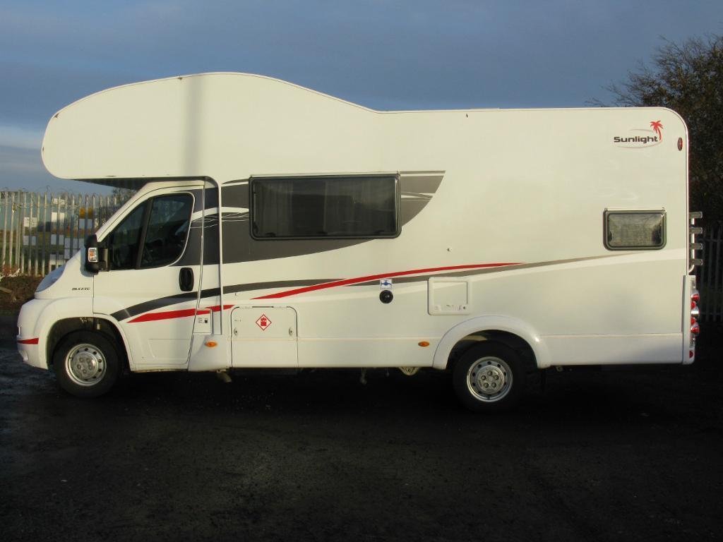 Motorhome With Garage Dethleffs Sunlight A68 6 Berth Motorhome In Newbridge