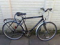 mens reflex 23in single speed hybrid bike , new lights, lock serviced ready to ride free delivery
