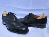 CROCKETT & JONES 'Ludgate 2' Black Oxford Brogue Shoes - UK 9 E.