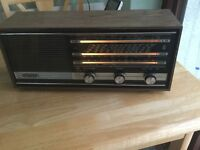 A vintage vhf grundig transistor table radio