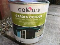 Wooden garden paint