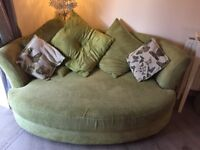 Will take £100 as it needs to go a bargain !!!DFS butterfly green 3 seater and corner suite