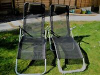 Sun Loungers x 2 - Very Good Condition - Tuscany Model from Greenfingers