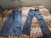 2 pairs of maternity jeans size 10 (from Zara and Jo Jo maman)