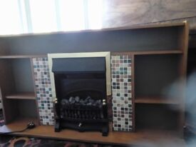 Coal effect heater with surround