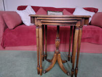 Delightful nest of tables made by the Imperial Furniture Company Michigan