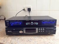 Graphic Equalizer (PYLE) & SONY CD Player Rewrightable playback