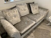 DFS CRUSHED VELVET SOFA