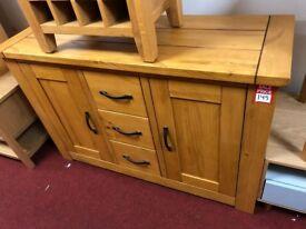 2 door 3 drawer sideboard - pine