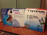 Several packs of quality photo paper