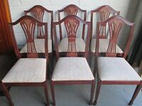 SET OF SIX SAKOL FURNITURE HARVEST BACK DINING CHAIRS FREE DELIVERY