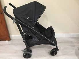 Joie Brisk LX Travel System with car seat, footmuff and raincover