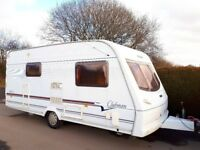 Lunar Clubman 2 Berth Caravan With L-Shape Kitchen - Lightweight Caravan