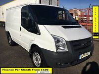 Ford Transit Van 2.4 330 -115BHP, 72K Miles ,6 Speed,3.5 Ton,1 Owner- FSH 9 Stamps-1YR MOT- WARRANTY