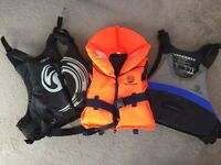 Life Jackets - 2 adult, 1 child. All worn once and in practically new condition