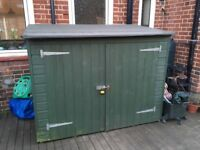 Shed for sale. Ideal for bikes or other garden storage. In excellent condition. Buyer collect only.