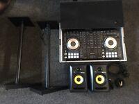 Pioneer DDJ sx2 full setup including KRK 5's + Flight case + Stands