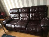 Leather sofa, fine condition, no tears