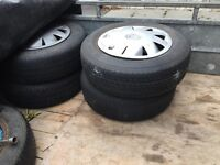 """14"""" inch Vauxhall Cavalier steel rims with trims"""
