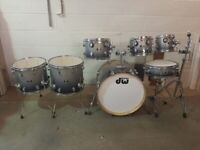 DW PDP X7 Series Silver to Black Sparkle Fade 7 Piece Drum Kit 22in Bass - Drums Only - £325 ono