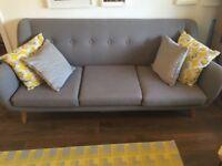 3 seater grey sofa - Scandi style