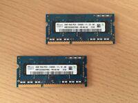 RAM 4GB (2x2GB) DDR3 1600MHz