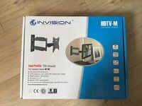 Invasion-TV Wall Mount Bracket-20 Inch Cantilever Arm/1.8-Inch Wall Profile Tilt & Swivel(HDTV-M)
