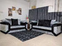 SPECIAL OFFER: BRAND NEW DINO MAX DIOMAND CRUSH VELVET SOFAS WITH EXPRESS DELIVERY!!!