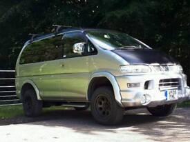 Mitsubishi delica, active field edition surf van, camper, day van