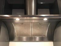 Smeg cooker hood stainless steel