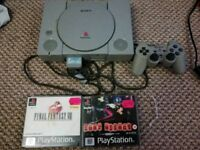 PS1 Bundle (Console, Memory Card, Controller, 2 Games (Final Fantasy 8 & Fear Effect)